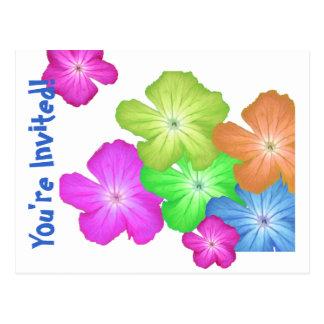 FlowerChild Template Invitation Postcard Any Event