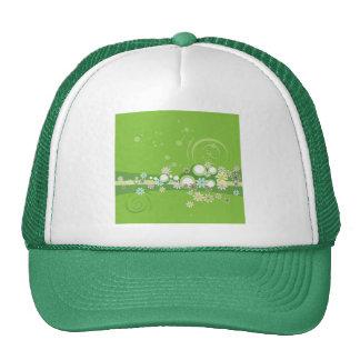 Flowered Green Whimsy Cap