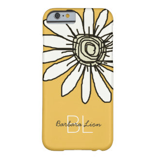 flowered on yellow personalized barely there iPhone 6 case