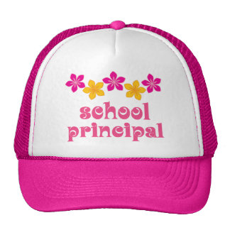 Flowered School Principal Hat