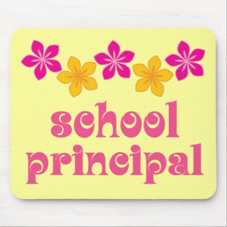 Flowered School Principal Mouse Mat