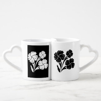 Flowered trio… coffee mug set