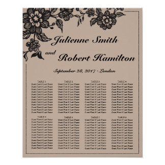 Floweret | Rustic Wedding Seating Chart Poster