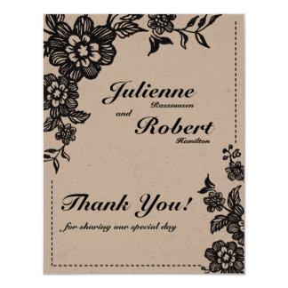 Floweret | Rustic Wedding Thank You Card 11 Cm X 14 Cm Invitation Card