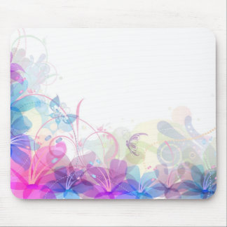 Flowerful Butterfly Abstract Mouse Pad
