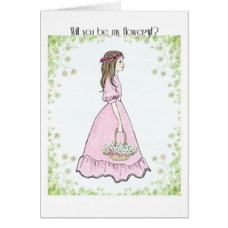 flowergirl invitation cards