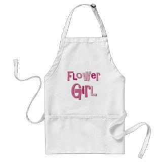 FlowerGirl Pink Brown Apron