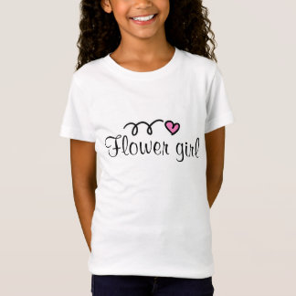 Flowergirl t-shirt with little pink heart