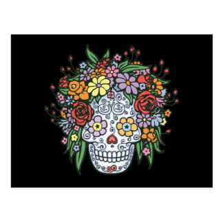 Flowerhair Sugar Skull Postcard