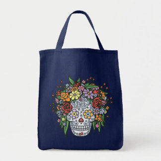 Flowerhair Sugar Skull Tote Bag