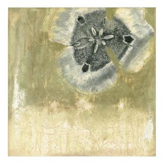 Flowerhead Abstract with Glazed Texture Acrylic Print