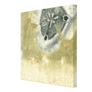 Flowerhead Abstract with Glazed Texture Canvas Print