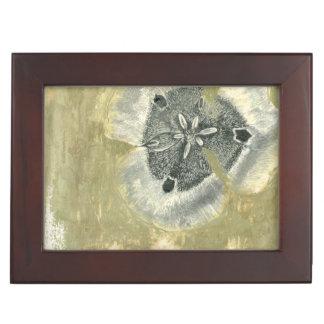 Flowerhead Abstract with Glazed Texture Keepsake Box