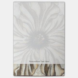 Flowerhead Fresco on Tan Background Post-it Notes