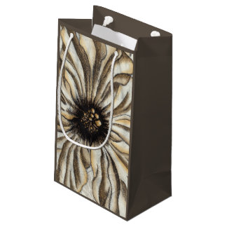 Flowerhead Fresco on Tan Background Small Gift Bag