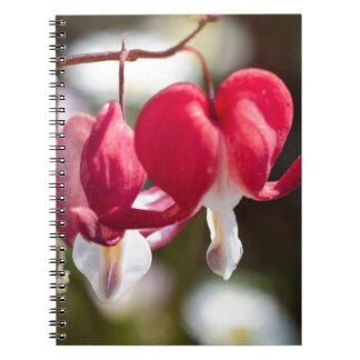 flowerin the garden spiral notebook