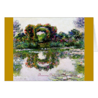Flowering Arches by Claude Monet Card