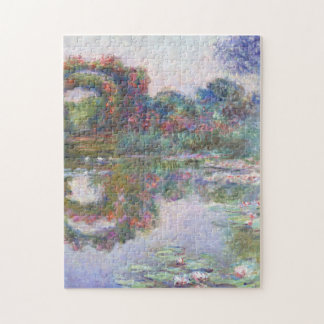 Flowering Arches Giverny Monet Fine Art Jigsaw Puzzle