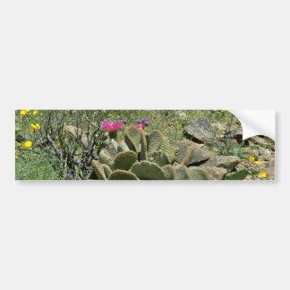 Flowering Beavertail Cactus With Wildflowers flowe Bumper Sticker