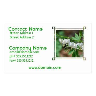Flowering Bleeding Heart Business Card