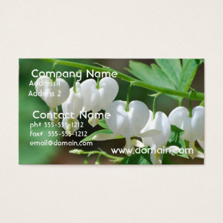 Flowering Bleeding Heart Business Card