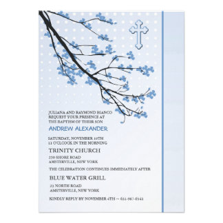 Flowering Blue Branches Invitation