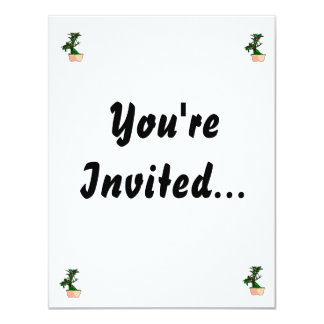Flowering Bonsai in Pink Square Pot 11 Cm X 14 Cm Invitation Card