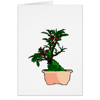 Flowering Bonsai in Pink Square Pot Note Card
