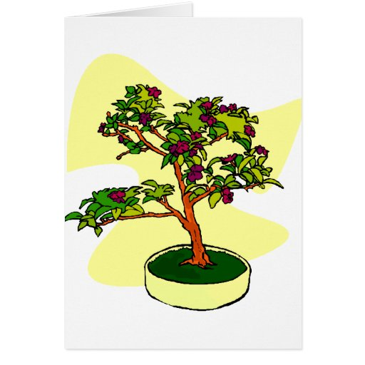 Flowering Bonsai Purple With Background Card