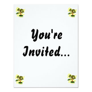 Flowering Bonsai Purple With Background 11 Cm X 14 Cm Invitation Card