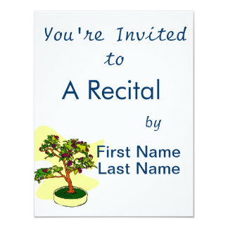 Flowering Bonsai Purple With Background Personalized Invitation