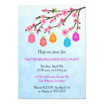 Flowering Branch Easter Eggs Party 13 Cm X 18 Cm Invitation Card