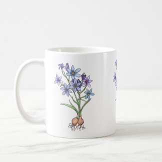 Flowering Bulbs Mug, in Soft Blues Coffee Mug