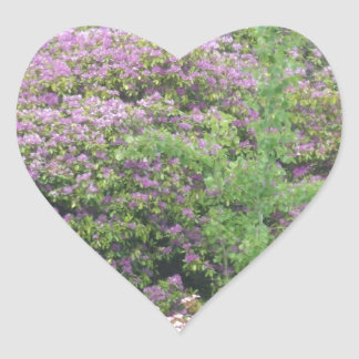 Flowering Bush Heart Sticker