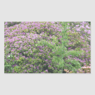 Flowering Bush Rectangular Sticker