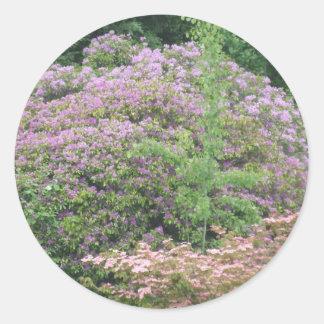 Flowering Bush Round Sticker