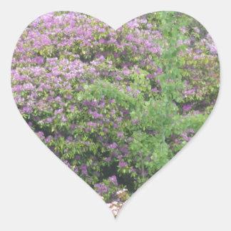Flowering Bush Heart Stickers
