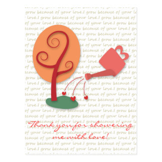 Flowering Can showering plant with love Postcard