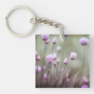 Flowering chives II Double-Sided Square Acrylic Key Ring