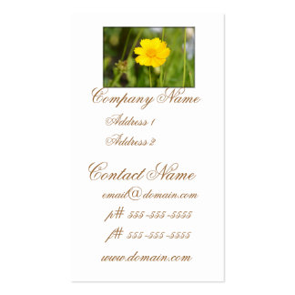 Flowering Coreopsis Business Card Templates