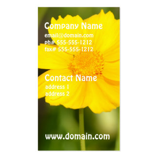 Flowering Coreopsis Business Cards