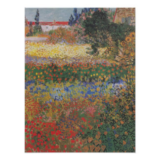Flowering Garden (1888) by Van Gogh Poster