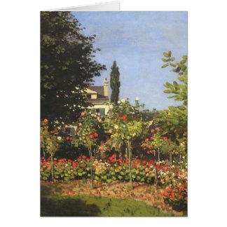 Flowering Garden at Sainte Adresse by Claude Monet Card