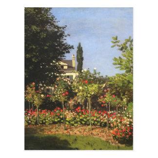 Flowering Garden at Sainte Adresse by Claude Monet Postcard