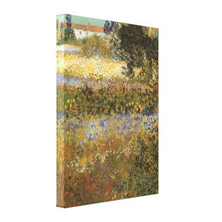 Flowering Garden by Vincent van Gogh Canvas Prints