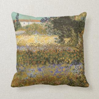 Flowering Garden by Vincent van Gogh Cushion