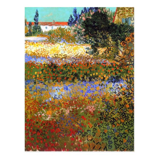 Flowering Garden by Vincent van Gogh Postcard