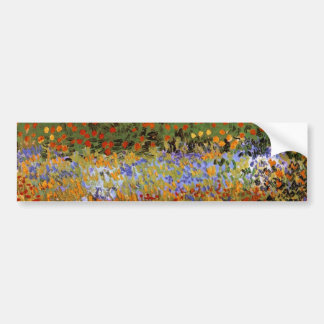 Flowering Garden (F430) Van Gogh Fine Art Bumper Sticker