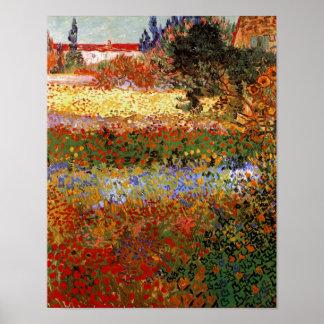 Flowering Garden (F430) Van Gogh Fine Art Poster