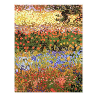 Flowering Garden Vincent van Gogh Flyer Design